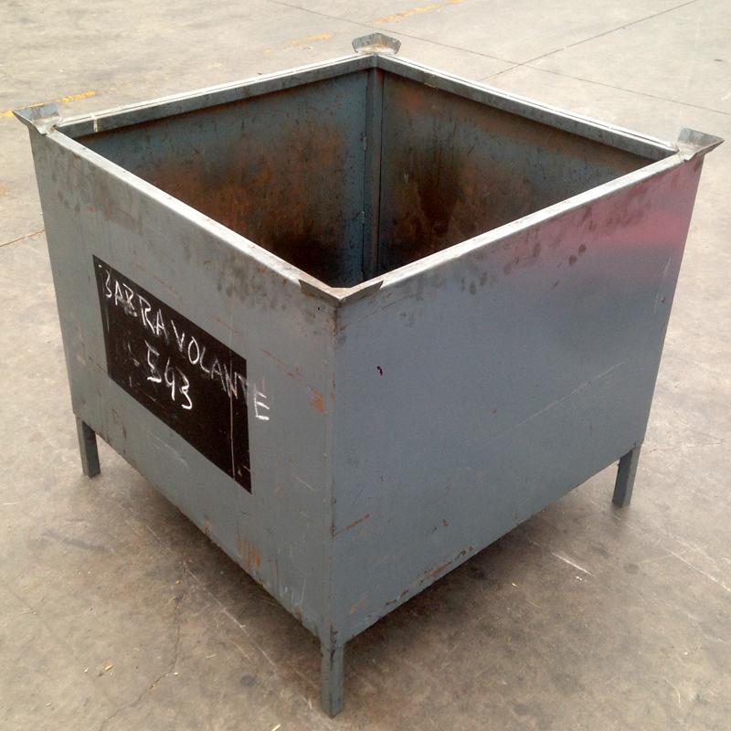 Contenedor apilable metalico usado 95 x 95 x 87 - Contenedores metalicos apilables ...